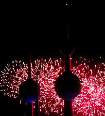 Kuwait fireworks celebrating the golden jubilee of its constitution #6 [November 10th, 2012] (loolykinns) Tags: golden fireworks jubilee towers kuwait constitution kuwaittowers goldenjubileeofconstitution