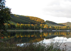Autumn reflections ( Annieta  Off / On) Tags: autumn oktober holiday reflection canon reflections deutschland vakantie geocaching herbst herfst automn reflexions autunno allemagne allrightsreserved duitsland sauerland reflectie hennesee powershots2is annieta abigfave citrit reflectionslovers usingthisphotowithoutmypermissionisillegal mygearandme mielingen cacmping