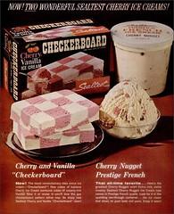 1965 Sealtest Cherry Vanilla Checkerboard & Cherry Nugget Prestige French (1950sUnlimited) Tags: food design desserts icecream 1950s packaging snacks 1960s dairy midcentury snackfood sealtest