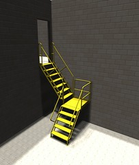 12 Step Steel Industrial stair
