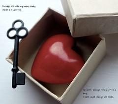 Keep my Heart Safe (Olivia Alcock) Tags: love key heart sweet box lock romance romantic safe conceptual quirky