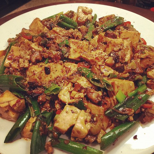 I made mapo tofu for dinner.