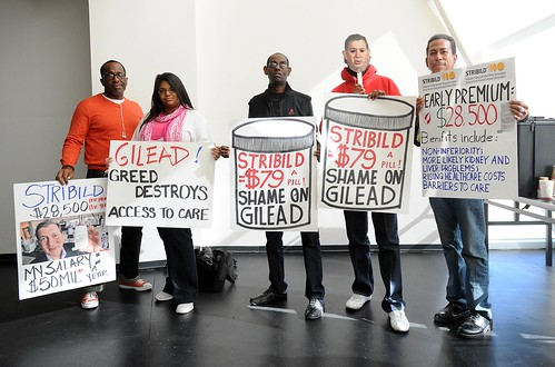 Drug Pricing Forum and Protest in Foster City at Gilead HQ