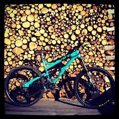 Biking on the Dolomiti (Elena Martinello) Tags: bike square cycle squareformat mtb yeti dolomiti iphoneography sb66 instagramapp xproii uploaded:by=instagram gettyimagesitalyq1 gettyimagesitalyq2 gettyimagesitalyq3