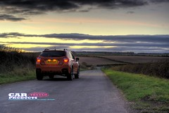 The road ahead (cactusmelba) Tags: road sunset orange tarmac 4x4 pentax d yorkshire country review 4wd east adventure subaru 20 hull xv hdr aficionados wolds 5xp k10d pentaxk10d carproductstested leftorrightdecisionsdecisions