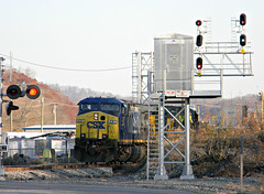 CSX 437-Lunar Signal (Photo Squirrel) Tags: railroad fall yard train diesel fallcolors maryland brunswick locomotive signal conductor railroadcrossing brightfuture csx freighttrain railroadstructure brunswickmd railraod frederickcounty railroadsignal csxt diesellocomotive ac44cw darkfuture railroadlocomotive railroadequipment csxdarkfuture frederickcountymaryland frederickcountymd gelocomotive freightlocomotive brunswickmaryland brunswickyard brunswickrailyard brusnwickmd brunswickrailroadyard csxmetropolitansubdivision southmapleave frederickcountymdmaryland csxtrailroadsignal csx437 csxmetropolitansubdivisionrailroad locomotiverailroad railroadsignalrailroadstructure csxbrightfuture