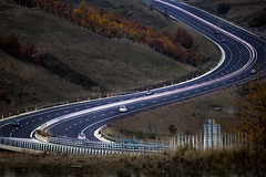 "route ""Z"" (dtsortanidis) Tags: road autumn trees cars nature car canon lens photography highway colours traffic snake mark curves s route greece telephoto ii 5d z curve shape asphalt 100400mm lanes dimitris dimitrios egnatia tsortanidis dtsortanidis"