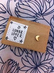 (cubsflicks) Tags: moon cute love illustration gold design graphicdesign handmade earring craft crescent jewellery ill homemade gift present textiles lunar giftwrap bestfriends giftideas textiledesign