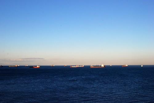 ships at sea.