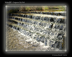 Waterfall (Cat-Art) Tags: northernireland irishart catart craigavon coarmagh irishphotographer craigavonlakes catshatwell catrionashatwell imagesfromireland doublevisionimagescom shatwellimages craigavoncitypark savecraigavoncitypark wwwdoublevisionimageswebscom