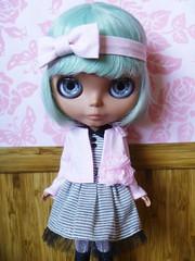 Minti in her fashion smitten dress