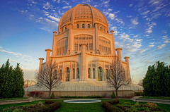 Glowing Baha'i (rseidel3) Tags: sky clouds sunrise temple worship religion bahai wilmette