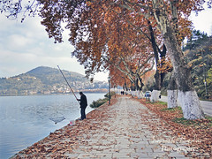 Kastoria (D. Smixiotis) Tags: city lake fisherman lakeside kastoria