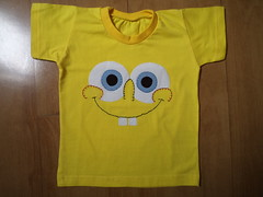 Camiseta Bob Sponja (Cecilia Marques - Ki Cuti Patch and Fun) Tags: body bob patchwork camiseta sponja patchaplique