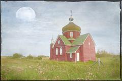 Prairie Church (Harry2010) Tags: red canada abandoned church bricks rustic saskatchewan grassland prairies textured isinger