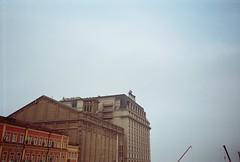 (Peaceful Hermits) Tags: camera old city november cold color film architecture clouds 35mm mju kodak atmosphere olympus ukraine plus kiev mju1