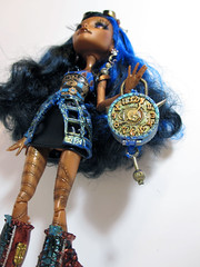 Recolored Robecca (nonaptime) Tags: monster robot high doll ooak steam frankie captain penny custom stein recolor repaint robecca threaderella