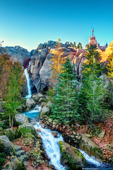 Beast Falls (TheTimeTheSpace) Tags: castle forest waterfall rocks disneyworld beast wdw waltdisneyworld magical hdr magickingdom beautyandthebeast fantasyland enchantedforest goldenlight newfantasyland nikond800
