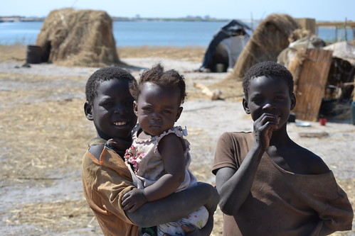 Children at Mwandi Fishing Camp, Mongu District, Zambia. Photo by Simon Heck, 2011.
