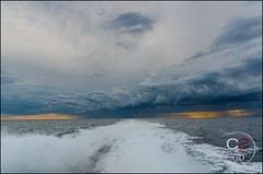Chased by the storm | Umag - Croatia (Cristian Sabau) Tags: travel sea summer sky storm nature water vertical clouds outdoors photography evening bay nikon europe flickr european sailing cloudy horizon wide croatia wave panoramic trail fantasy heat getty coastline relaxation idyllic vacations scenics crosssection eveninglight touristic adriaticsea separation istria dividing tranquilscene vibrantcolor wideangel watersurface umag umago colorimage leisureactivity histria surfacelevel recreationalpursuit watertrail boattrail horizonoverwater d5100