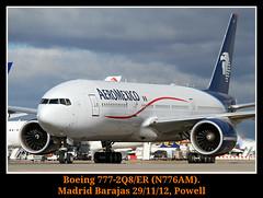 Un grandullon en el suelo (Powell 333) Tags: madrid espaa plane mexico airport spain er air planes 777 avin aeropuerto aero avion aeromexico barajas aena boeig madridbarajas n776am boeig777 boeig7772q8er 2q8er 2qr