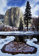 Boundaries (DM Weber) Tags: california park autumn trees winter snow reflection fall ice leaves canon landscape el national yosemite boundaries capitan eos5dmk2 psa148 dmweber