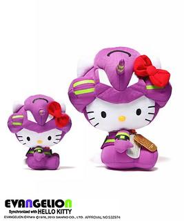 『新世紀福音戰士 × HELLO KITTY』娃娃