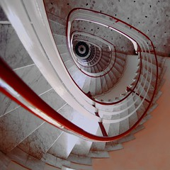 Un gradino per volta (meghimeg) Tags: red rot stairs rojo rapallo explore step scala rosso 2012 gradino encarnado