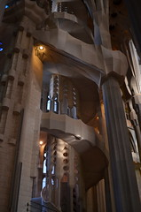 Spiral Staircase [Barcelona - 15 September 2012] (Doc. Ing.) Tags: barcelona church architecture spain cathedral unesco catalunya sagradafamilia modernismo 2012 worldheritage antonigaud eixample