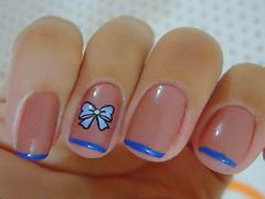 Andando nas nuvens - Colorama (nayaaaara) Tags: azul nude lao adesivo turmadamnica colorama inglesinha decalque andandonasnuvens sindyfrancesinhas
