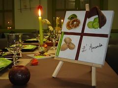 A la chandelle (Ty Dav Boubou) Tags: green menu private table warm candles candle decoration meeting vert romantic bougies bougie chandelle ambiance têteàtête tabledecoration romantique chandelles warmplace décorationdetable chaleureux ambianceromantique bouboutydav tydavboubou