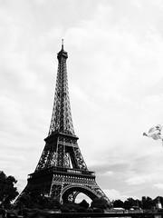 Paris (Valria) Tags: white black paris tower tour eiffel toureiffel parigi wiev sightseen