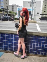 Carolina Corr (Vanderlei Gomes Fotografia :-]) Tags: brazil woman black girl rock brasil avenida model dress mulher negro modelo teen roll garota paulo menina so vestido ruiva paulista redhed rockeira