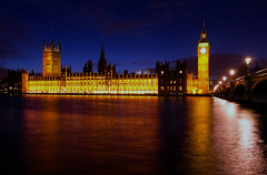 Houses of Parliament at night (Dick Bulch) Tags: housesofparliament bigben riverthames westminsterbridge