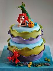 The little mermaid cake (anna savenko (sVeshti4ka)) Tags: ariel cake sebastian little mermaid