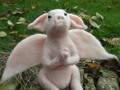 Piglet Angel 2 (mrsplop) Tags: cute wool mice catherine lane fiberart mrs piglets plop needlecraft textileart miniatureanimals needlefeltedmouse needlefeltedanimals feltedminiature needlefeltedpiglet mouseangel pigletangel