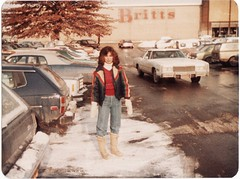 SYLVIA AT BRITTS DEC 1979 (richie 59) Tags: city autumn people urban usa snow building cars film car america buildings shopping outside us store parkinglot automobile gm unitedstates sister cadillac kingston vehicles teen chrome teenager vehicle newyorkstate oldpictures shoppingcenter 1970s oldcar oldcars 1979 sylvia oldpicture automobiles britts olddays nystate americancars generalmotors hudsonvalley kingstonny oldstore motorvehicles teenagegirl ulstercounty motorvehicle smallcity uscar uscars midhudsonvalley americancity cadillaceldorado ulstercountyny americanbuilding datsunf10 gmcar 1970scars dec1979 picturescan americanbuildings kingstonplaza richie59 dec151979
