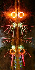 Fire & Light Figure 19 (tackyshack) Tags: light lightpainting reflection wool painting pond mask orb squid figure paintingwithlight dlw steelwool romancandle 1x2 woolspinning circlemaker squidlegs lightjunkie tackyshack circletool digitallightwand ©jeremyjackson