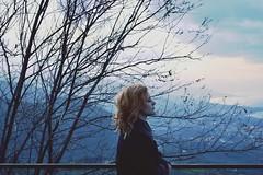 Dear cold Winter, I was waiting for you (SerenaAndHerSoul) Tags: blue trees winter portrait selfportrait girl self landscape blu magic autoritratto emotions inverno ritratto ragazza magia emozioni