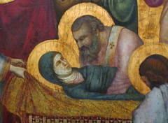 Giotto, The Entombment of Mary, detail with Mary