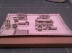Pallet Town 03 ((>'o')>_WA-OH) Tags: paper nintendo pikachu pokemon gameboy diorama papercraft rby pallettown