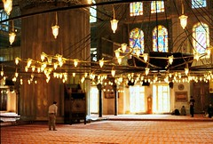 Blue Mosque, Istanbul (kostyasticky) Tags: city trip light canon turkey 50mm europe colours istanbul mosque outoffocus 121212 filmphoto