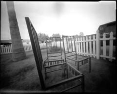 "12-12-12 004 ""chairs II"" pinhole (boxcustom) Tags: camera bw art film diy chair box cigar pinhole 400 4x5 agfa expired homebuilt 185 makers agfapan gcarvajal"