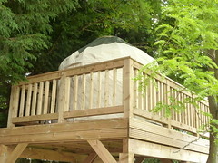 "Mini Yurt on decking • <a style=""font-size:0.8em;"" href=""http://www.flickr.com/photos/61957374@N08/27747673204/"" target=""_blank"">View on Flickr</a>"