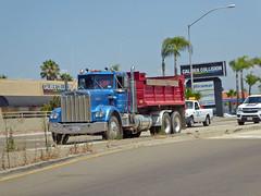 Dump Truck 8-11-16 (Photo Nut 2011) Tags: california truck miramar sandiego dumptruck calibercollision