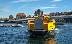 Water transport. (Johnny H G) Tags: waterbus movia nyhavn harbor pier water boat building bridge copenhagen kbenhavn denmark danmark johnnyhg fuji