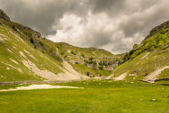 Gordale Scar. (ian.emerson36) Tags: limestone yorkshire glacier gorge ravine clouds greenery rocks landscape hiking canon 1855mm beauty