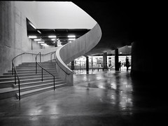Switchover (Douguerreotype) Tags: england geometric london uk urban british stairs spiral city geometry britain architecture gb helix steps bw blackandwhite monochrome mono