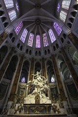 Drawn Up into Heaven (Lawrence OP) Tags: assumption blessedvirginmary ourlady chartres cathedral france sculpture apse highaltar charlesantoinebridan clerestory stainedglass arches