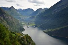 Geirangerfjord, Norway (CLAUDIA COTA) Tags: noruega norway mountains fjords fiordos snow landscapes water sky clouds scandic photography fotografa claudiacota